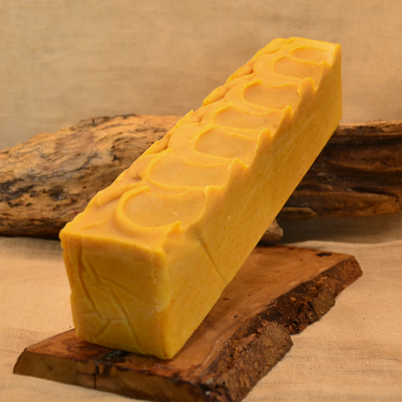 barre de savon naturel au jus de carotte et huile de ricin - obialice - savonnerie artisanale montpellier