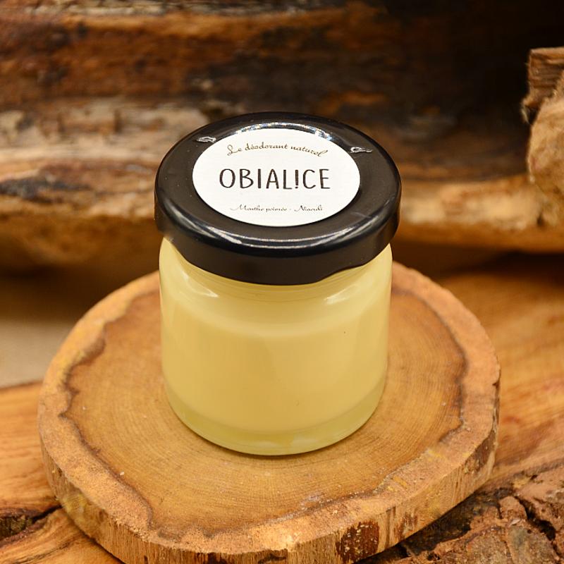 Déodorant solide bio - huile de coco vierge-huile essentielle menthe poivrée-niaouli: obialice cosmétiques naturels
