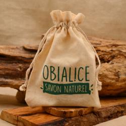 Pochon de voyage en coton imprimé Obialice savonnerie France