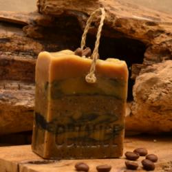 Savon surgras - marc de café - savon de cuisine pour les mains - huiles essentielles - cèdre - orange douce  -Obialice