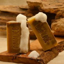 Shampoing artisanal à froid au miel karité coco cacao sésame ricin olive -  obialice  savonnerie occitanie