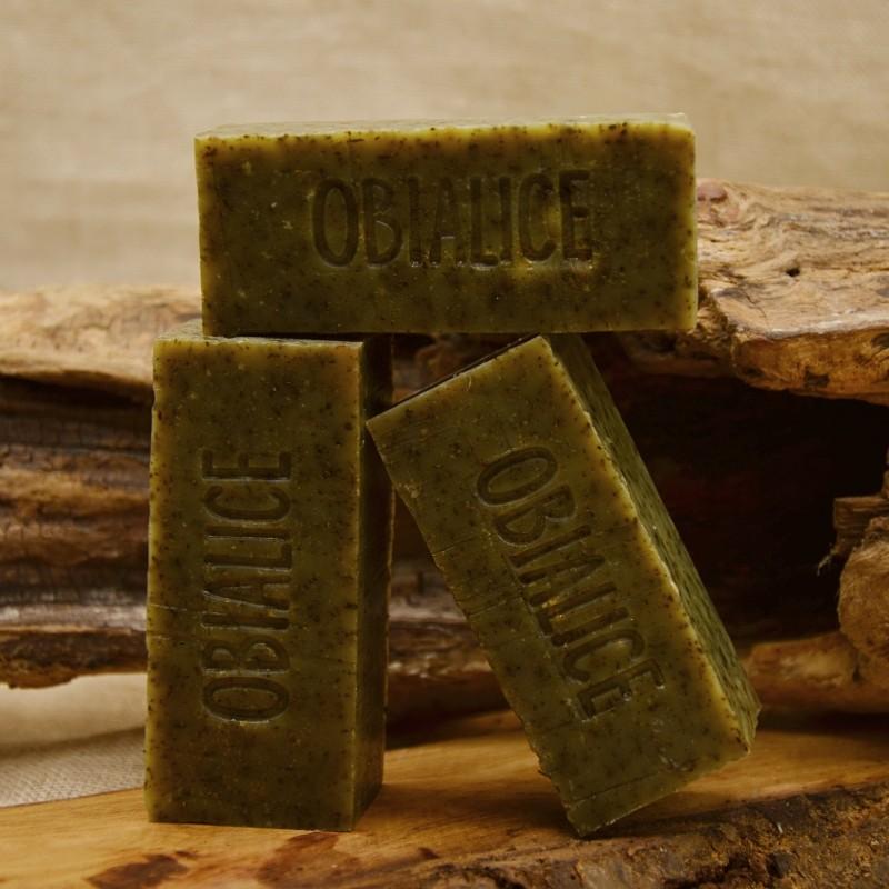 Shampoing saponifié à froid - équilibrant -cheveux gras -ortie - jojoba- huile essentielle de romarin - menthe : obialice