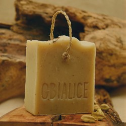 Savon à froid surgras cardamone huile d'amande douce et lait vegetal d'amande douce - obialice savonnerie artisanale herault