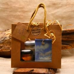 Coffret cadeau découverte composé d'un savon, un déodorant et un baume ç à lèvres naturels - Obialice savonnerie artisanale