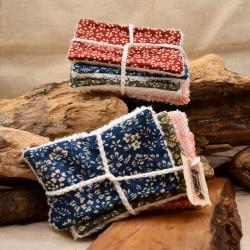 Lingettes démaquillantes en tissu éponge bambou : Obialice savonnerie artisanale Hérault