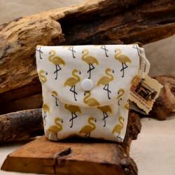 Pochette à savon coton enduit imprimé flamand : obialice savonnerie artisanale hérault