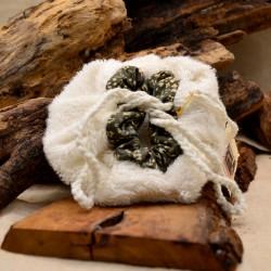 Bourse à savon surgras en éponge bambou : Obialice savonnerie hérault